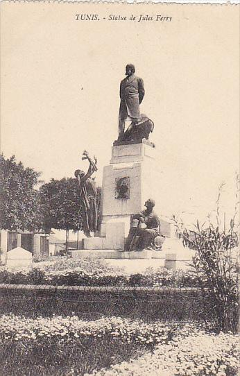 Tunisia Tunis Statue de Jules Ferry