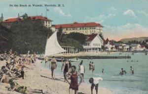 HONOLULU , Hawaii , 1921 ; Beach at Waikiki