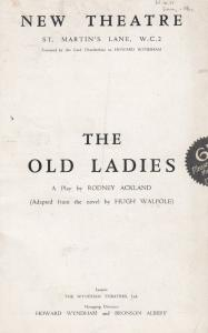 The Old Ladies Beatrix Feilden Kaye Jean Cadell St Martins Theatre Programme