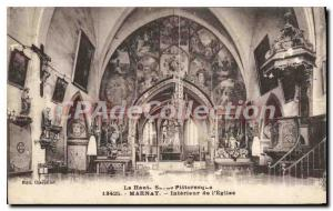 Postcard From Old Marnay Interior I'Eglise