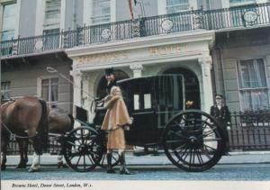 Browns Head Hotel Dover Street London Beautiful Guest in Horse & Cart Postcard