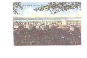 City  from Mount Royal, Montreal, Quebec, Used 1956
