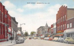 Monmouth Illinois Main Street Antique Postcard J48127