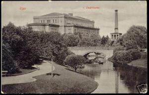 russia latvia, RIGA, Stadttheater, Theatre (ca. 1910)