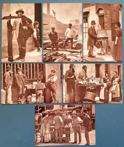 Set of 6 London 1877 Street Life Repro Postcards England Social History Set 2