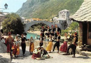 Croatia Mostar Dancers Traditional Costumes Bridge Pont