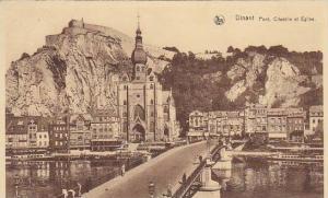 Belgium Dinant Pont Citadelle et Eglise 1936