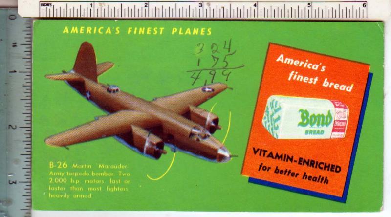 American Finest Planes B-26 - Bond Bread