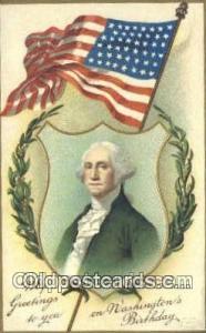 Artist Clapsaddle, George Washington, 1st President USA, Political, Old Vinta...