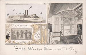 Fall River Line Steamer Priscilla Showing Bulkhead At Main Stairway