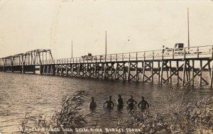RP: BURLEY , Idaho , 1915 ; Wagon Bridge over Snake River