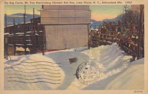 Zig Zag Curve Olympic Bob Run Lake Placid Adirondack Mountains New York 1943 ...