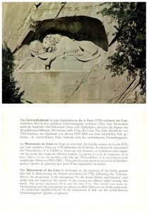 SWITZERLAND Postcard Monument Of The Lion (A14)