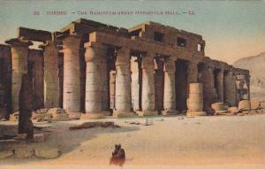 The Ramsseum Great Hypostyle Hall, Thebes, Greece, 1900-1910s