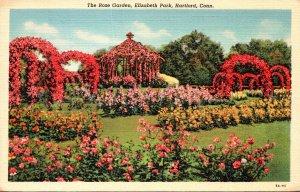 Connecticut Hartford Elizabeth Park The Rose Garden Curteich