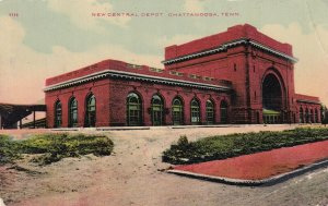 CHATTANOOGA , Tennessee, 1910 ; New Central Railroad Train Depot