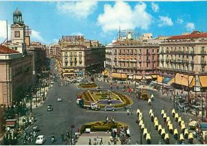 Vintage Postcard Sun Gate Square FountainFunador Dome Madrid Spain # 1282