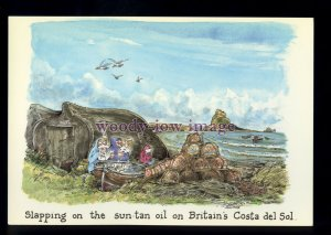 BE189 - Britains Costa del Sol, lovely weather for?? - Large Besley Comic P'card