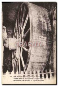 Postcard Old water mill Le Mont Saint Michel Abbey