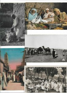North Africa Street Scenes And Ethnics Postcard lot of 15 01.12