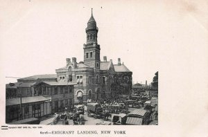 Emigrant Landing, New York City, Early Postcard, Unused