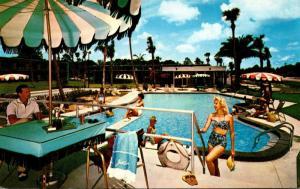 Florida Jacksonville Thunderbird Motor Hotel Swimming Pool