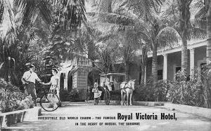 Nassau Bahama Islands Royal Victoria Hotel Horse & Wagon Postcard