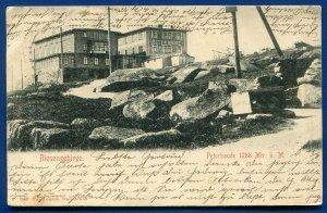 Riesengebirge Peterbaude 1288 Mtr u m Germany postcard postmarked 1902