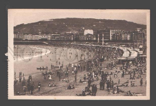 Banos San Sebastian.089162 Spain San Sebastian Gran Playa De Banos Vintage Pc