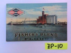 America's Finest Flouring Mills Fisher's Blend Perfect Vintage Postcard ZP-10