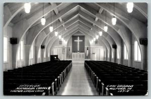 Milford Iowa~Lake Okoboji Walther League Camp~Memorial Chapel Interior~1959 RPPC