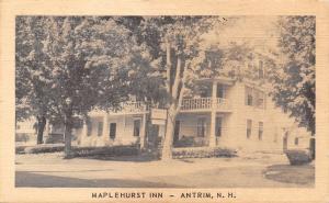 Antrim New Hampshire~Maplehurst Inn~1940s Postcard