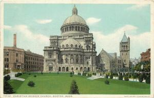 Boston Massachusetts~Detroit Publishing #70125 Christian Science Church~1907