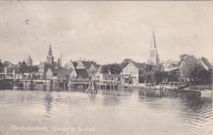Monnickendam , North Holland , Netherlands , PU-1918 ; Gezicht op de stad