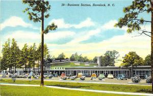 Havelock NC Cherry Theatre Old Cars Postcard