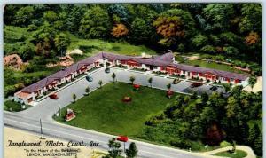 LENOX, Massachusetts MA  Roadside TANGLEWOOD MOTOR COURT ca 1960s  Postcard