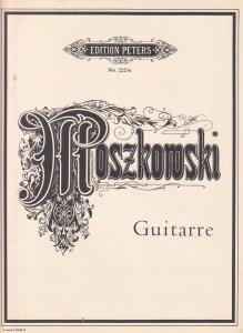 Moszkowski Guitarre 1950s Classical Piano Sheet Music
