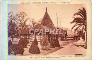 Old Postcard Paris Colonial Exhibition Iternationale Pavilion of New Caledonia