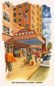 The Pick Kansan, Topeka, Kansas, early postcard, unused