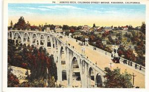California, Pasadena, Arroyo Seco, Colorado Street Bridge, auto cars voitures