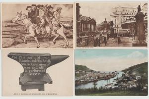 Lot of 4 UK Scotland vintage postcards London