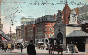 Scollay Square, Boston, Massachusetts, Early Postcard, Used in 1907