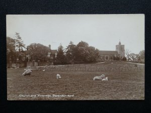 Kent BENENDEN Church & Vicarage - Old RP Postcard by J. Rollings of Post Office