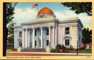 Nevada Reno Washoe County Court House Curteich