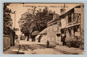S Barbizon France, Grande Rue, Hotellerie du Bas-Breau  Vintage Postcard