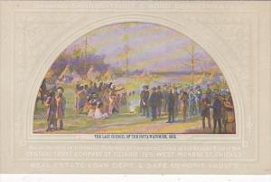 Illinois Chicago Last Council Of The Pottawatomies 1833 Painting At Central T...