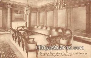 Directors Room, Security Trust & Savings Bank Los Angeles, California, USA Po...