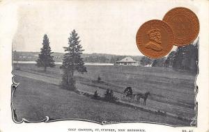St Stephen NB Golf Grounds 1903 1 cent Coin #45 Postcard
