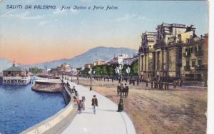 PALERMO, Sicilia, Italy, PU-1918; Foro Italico E Porta Felice