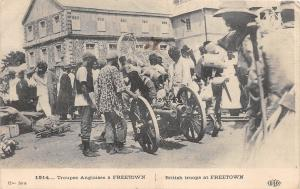 B84990 brithish troops at freetown   sierra leone
